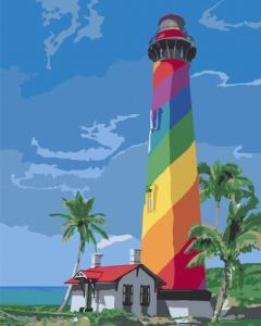 Картины по номерам Маяк Сан Августин. Флорида
