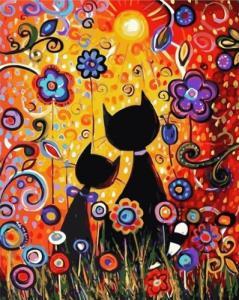 Картины по номерам Красочные котики