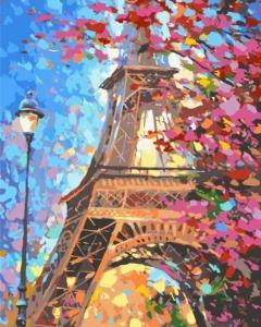 Картины по номерам Цветочный Париж