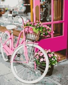 Картины по номерам Цветочный велосипед