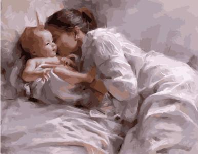 Картины по номерам Мать с младенцем