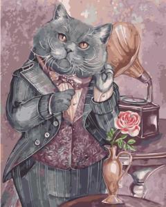 Картины по номерам Мелодия мыслей, кот