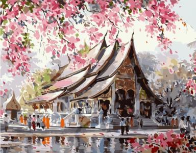 Картины по номерам Японская сакура