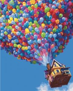 Картины по номерам Дом с шариками