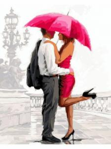 Картины по номерам Двое под зонтом