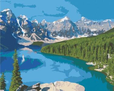 Картины по номерам Озеро Марейн, Канада