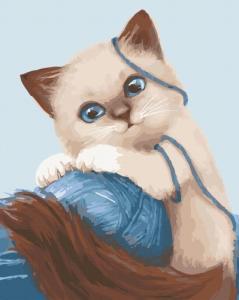 Картины по номерам Игривый котенок