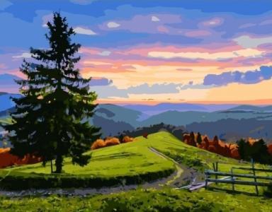 Картины по номерам Вечерний пейзаж