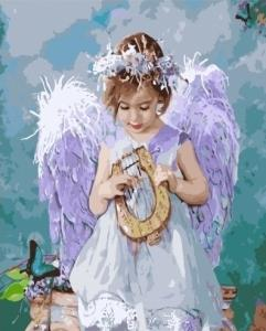 Картины по номерам Девочка ангел