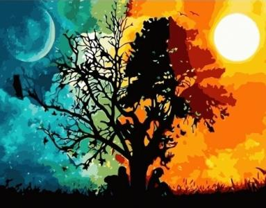 Картины по номерам День и ночь