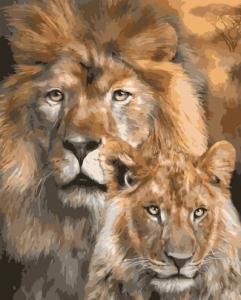 Львы. Отец и сын