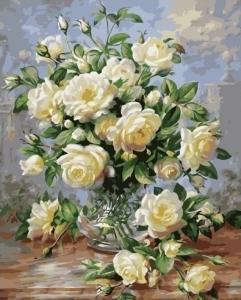 Маленькие белые розы