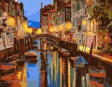 Картины по номерам Ночной канал Венеции