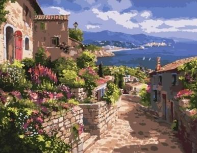 Картины по номерам Улицы Греции