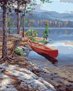 Картины по номерам Живописный сосновый берег