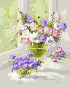 Картины по номерам Нежные цветы
