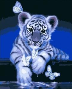 Картины по номерам Малыш тигренок