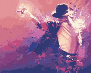 Картины по номерам Король поп-музыки