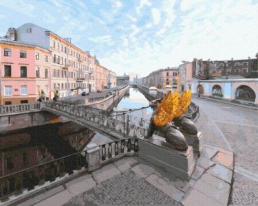 Картины по номерам Погожий день в Петербурге
