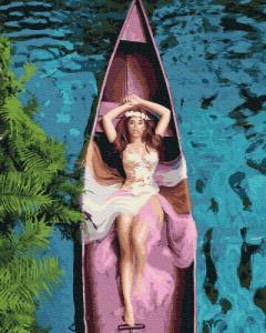 Картины по номерам Девушка в лодке