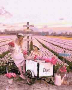 Картины по номерам Тюльпановое поле