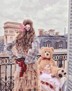 Картины по номерам Девушка с мишкой