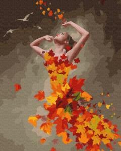 Картины по номерам Осенняя девушка