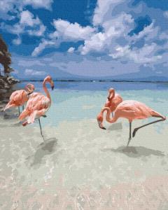 Картины по номерам Фламинго