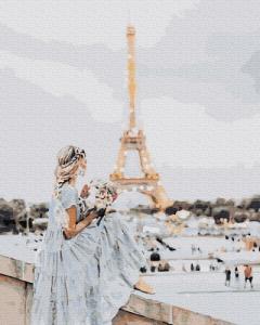Картины по номерам Девушка в Париже