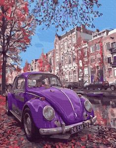 Картины по номерам Ретро Volkswagen жук