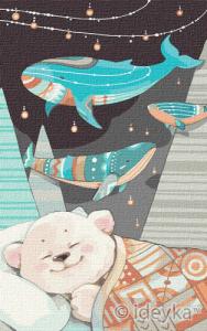 Картины по номерам Сладкие сны медвежонка