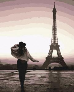 Картины по номерам Прогулка по Парижу