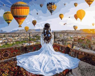 Картины по номерам Принцесса и воздушные шары