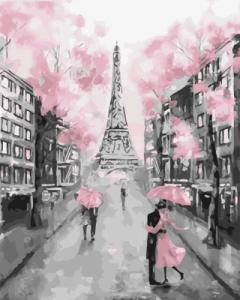 Картины по номерам Розовый париж