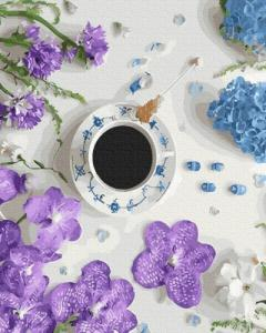 Картины по номерам Фиалковый кофе