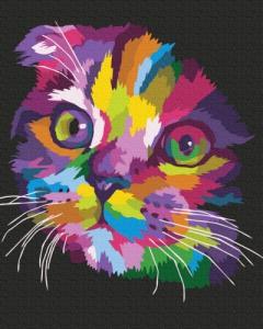 Картины по номерам Радужный котенок