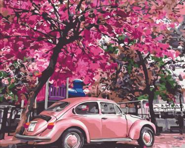 Картины по номерам Цветущая парковка