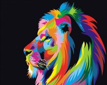 Картины по номерам Радужный лев