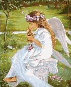 Картины по номерам Гармония ангела с природой