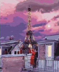 Картины по номерам Місто любові на заході