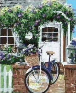 Картины по номерам Велосипед на крыльце