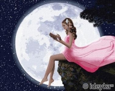Картины по номерам Чтение под луной