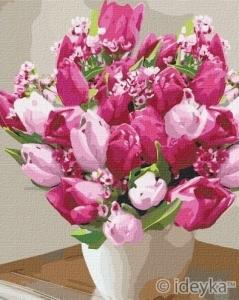 Картины по номерам Яркие тюльпаны