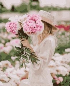 Картины по номерам В цветочном поле