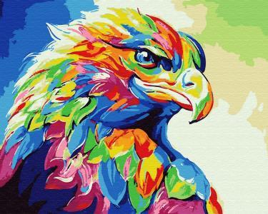 Картины по номерам Радужный орёл