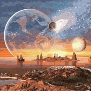 Картины по номерам Космическая пустыня
