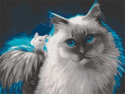 Картины по номерам Интересная дружба
