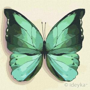 Картины по номерам Зеленая бабочка