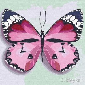 Картины по номерам Розовая бабочка
