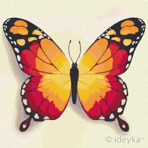 Картины по номерам Оранжевая бабочка